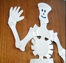 & Paper Plate Skeleton - Peek-a-Boo Pages - Patterns Fabric u0026 More!