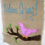 Welcome Spring Door Hanger Tutorial
