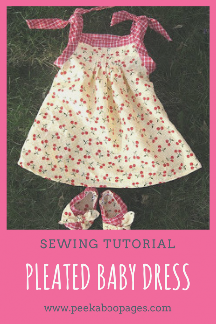 Pleated Baby Dress Tutorial Free Pattern Peek A Boo Pages