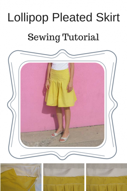 Lollipop Pleated Skirt Tutorial