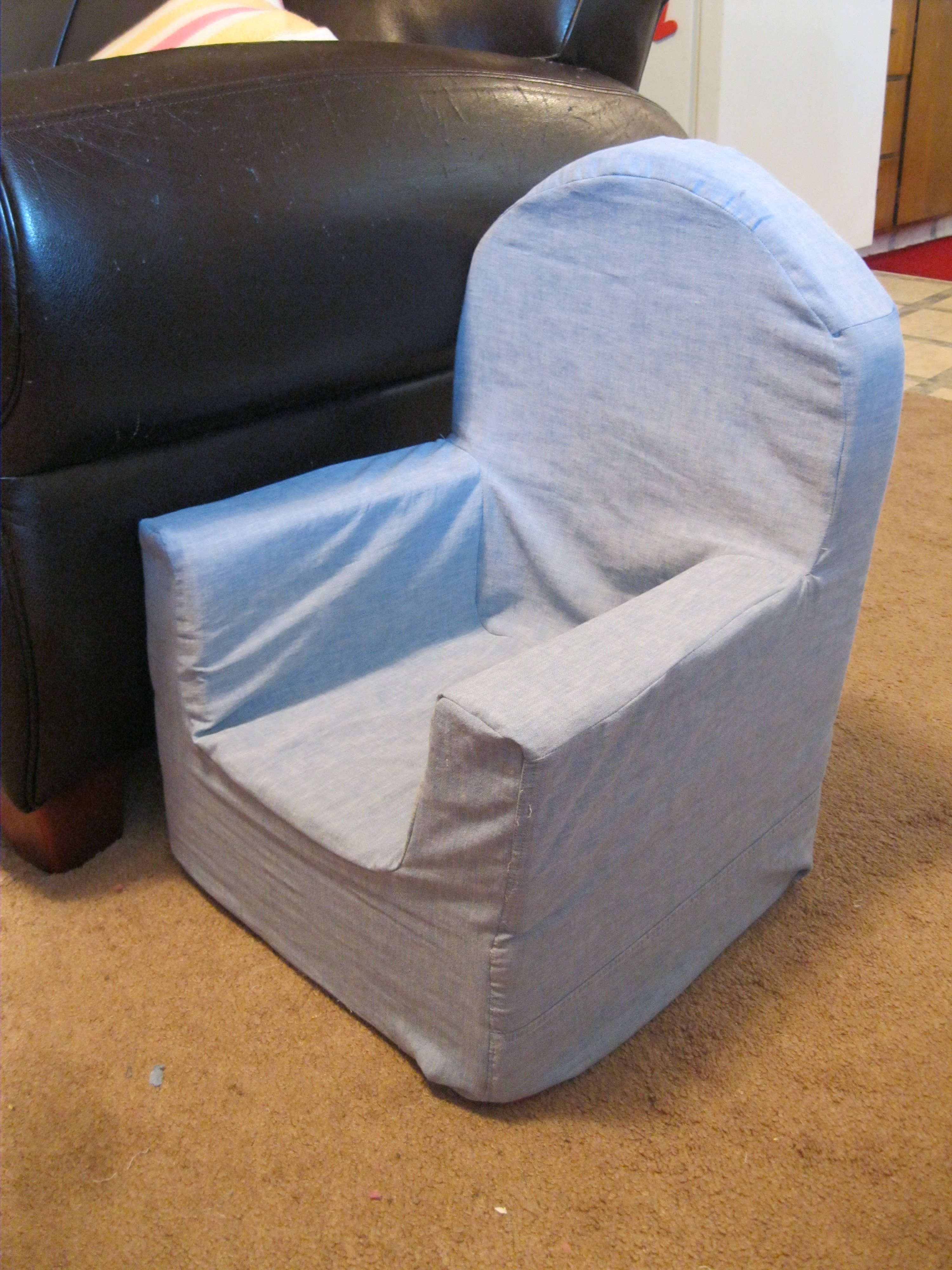 How to recover a kid 39 s foam chair peek a boo pages for Toddler foam chair