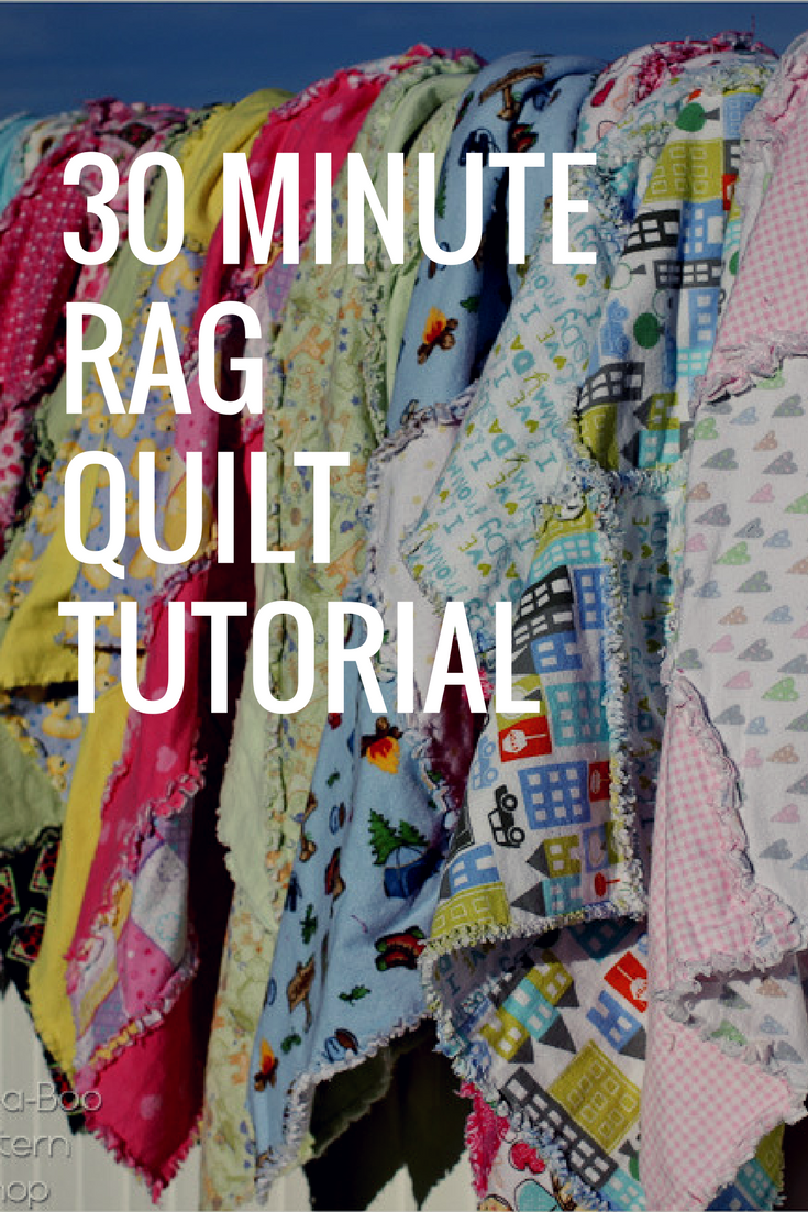 Rag Quilt Pattern Tutorial 30 Minutes To Make These