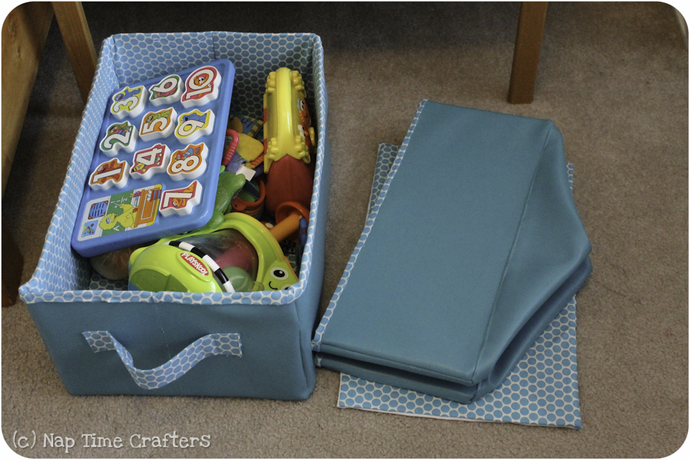 collapsible storage bins tutorial peekaboo pages sew something special