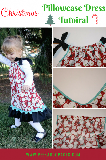 Holiday Pillowcase Dress Tutorial Peek A Boo Pages Patterns