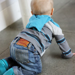 Urban Baby: Upcycled Jeans & Tee
