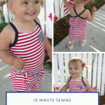 10 Minute 4th of July Romper Pattern!