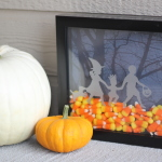 Candy Corn Shadow Box