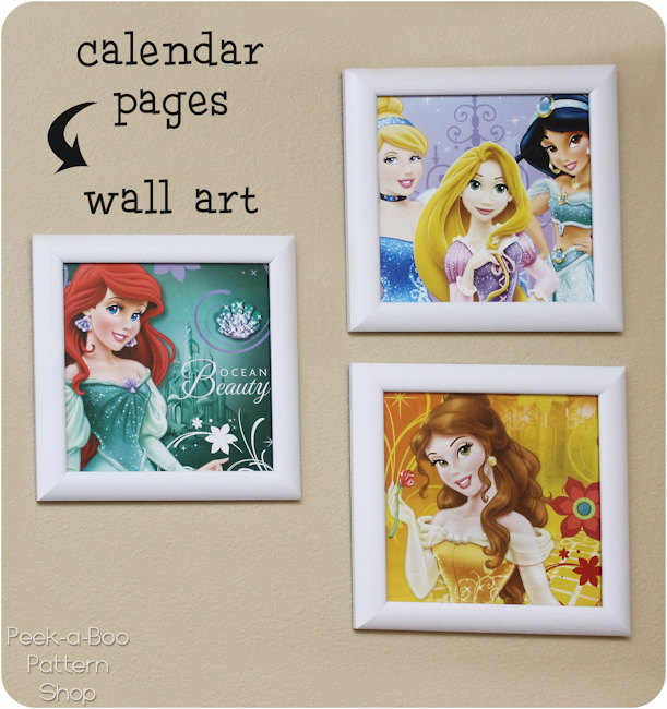 Calendar Page Wall Art - Peek-a-Boo Pages - Patterns, Fabric & More!
