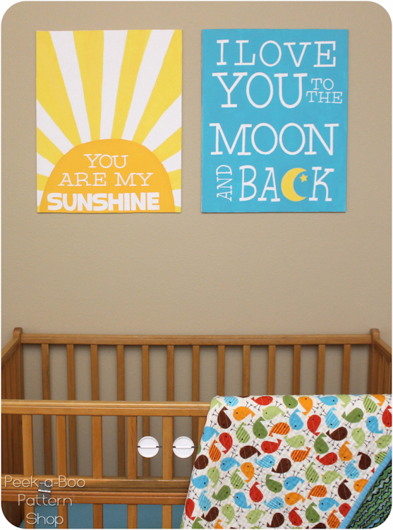 Fun wallart for nursery