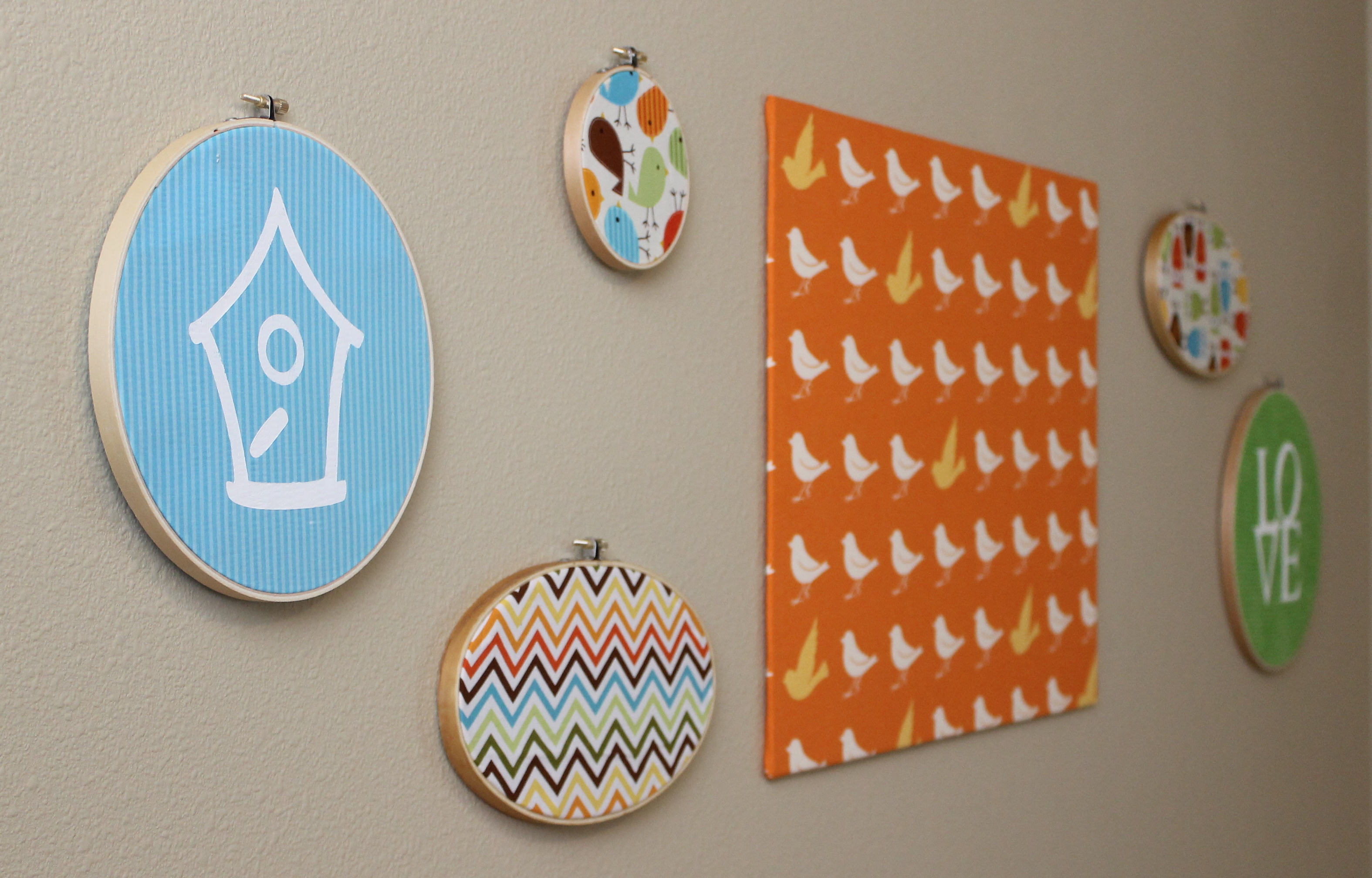 Embroidery hoop wall art tutorial peek a boo pages