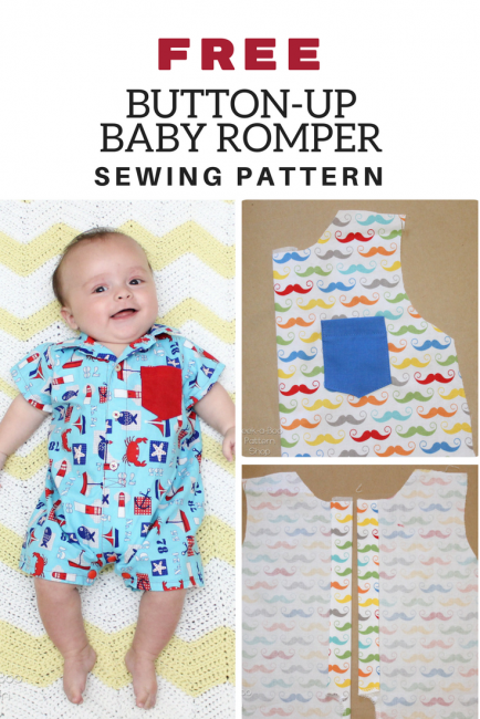 Button-Up Baby Romper Pattern