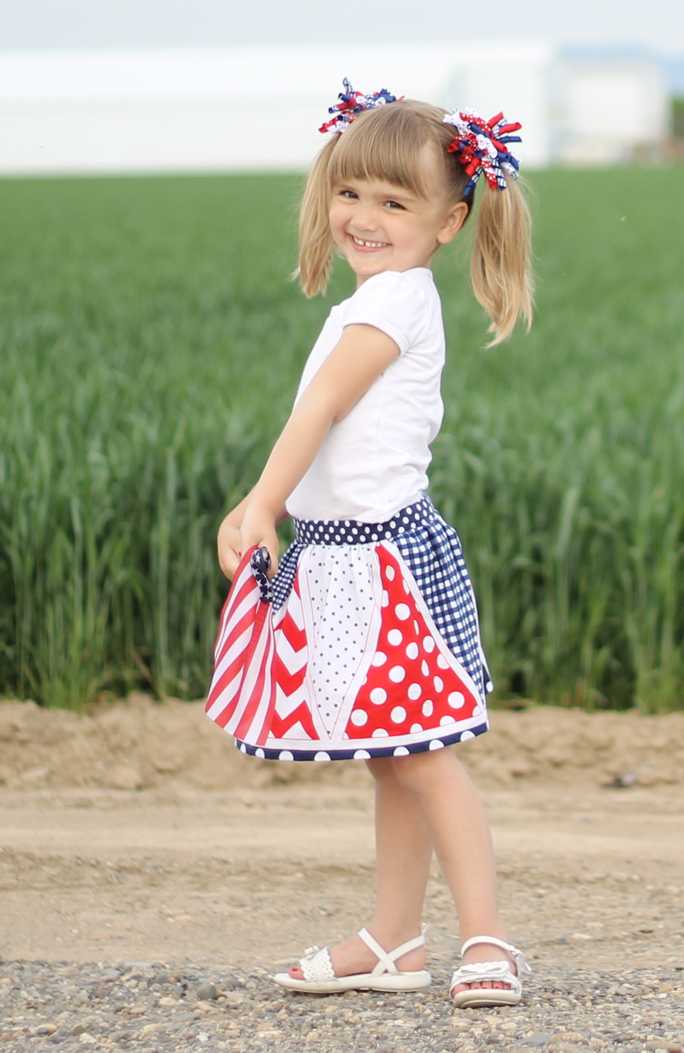 Star Spangled Skort Free Pattern - Peek-a-Boo Pages - Patterns ...