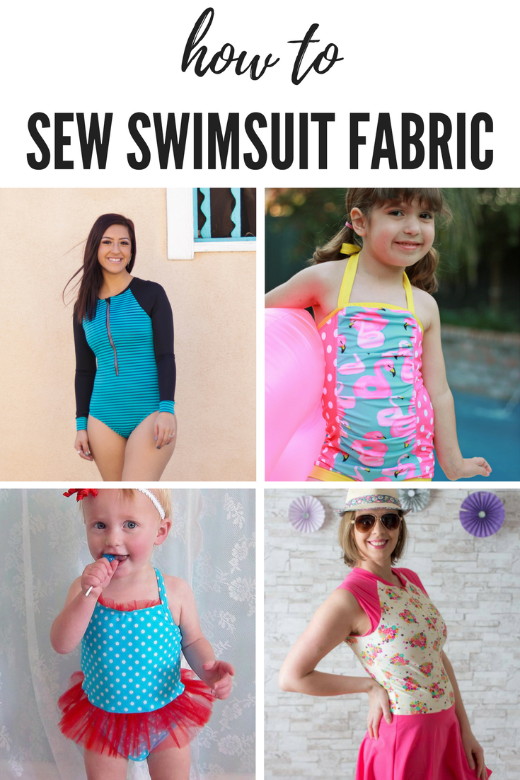 sewing on swimsuit fabric
