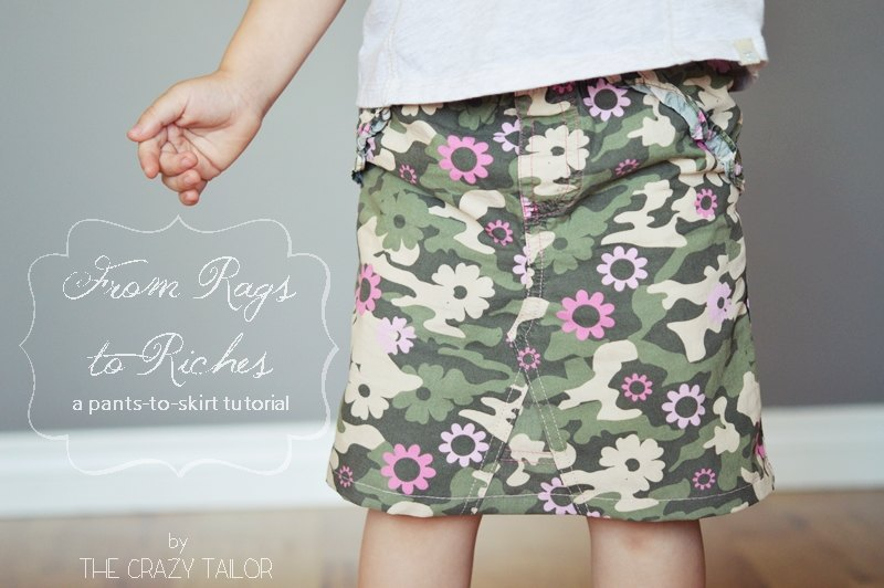 pants to skirt tutorial