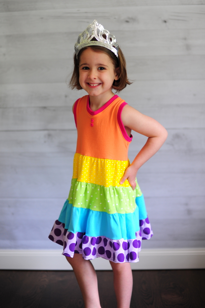 How to Make a Tiered Ruffle Dress with Any Bodice - Peek-a