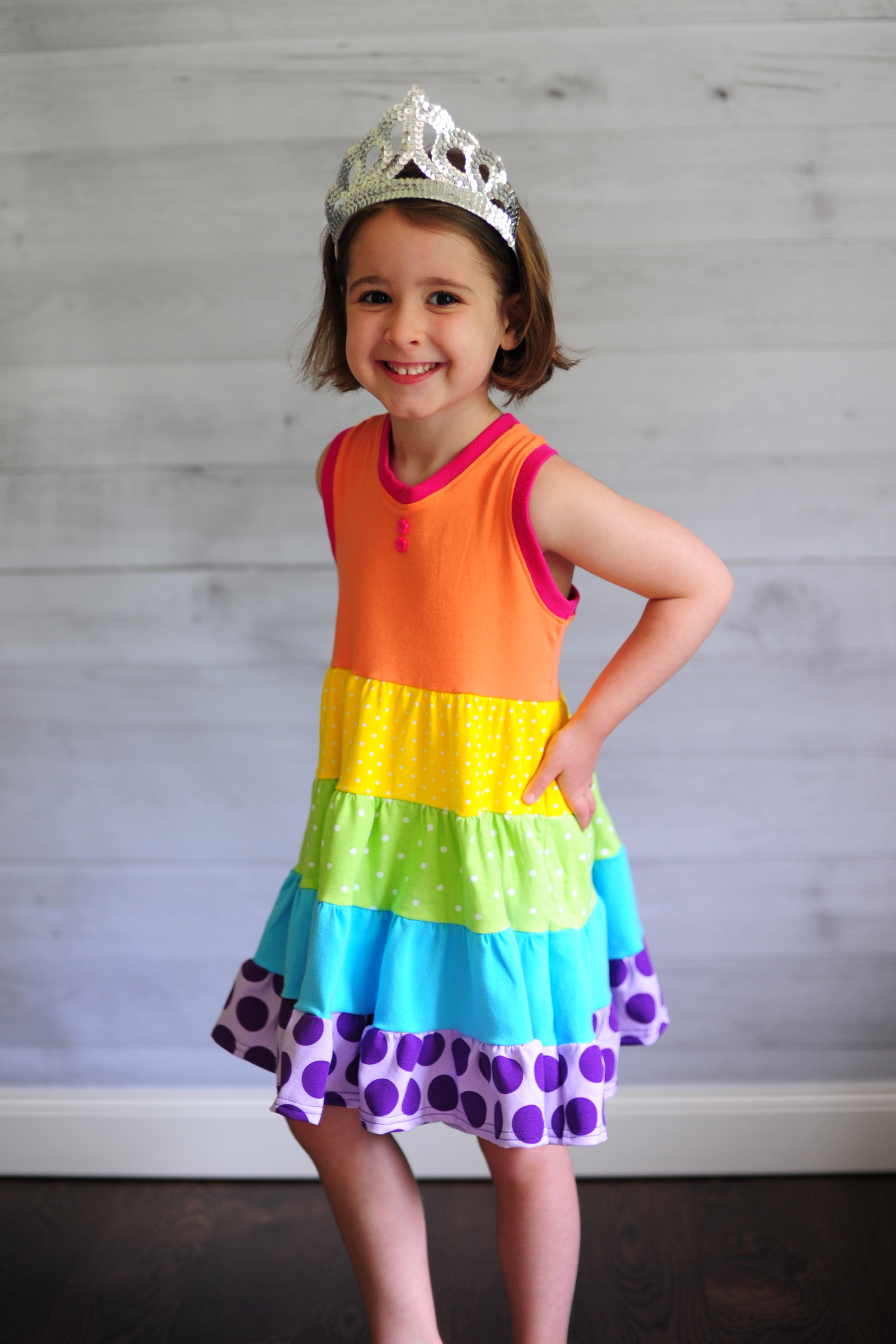 How to Sew a Tiered Ruffle Dress with Any Bodice Peek a Boo Pages