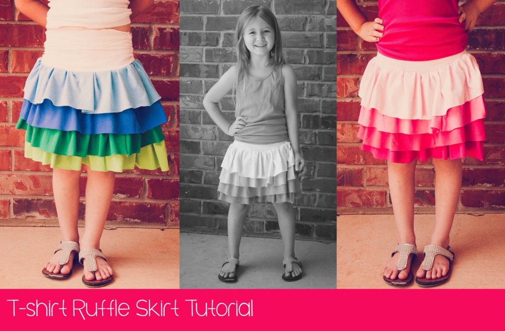 T-shirt Ruffle Skirt Tutorial Cover