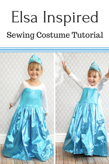 Ice Queen Costume DIY - Peek-a-Boo Pages - Patterns, Fabric & More!