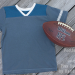 Turn the Play Date V-Neck into a Football Jersey Tee Shirt
