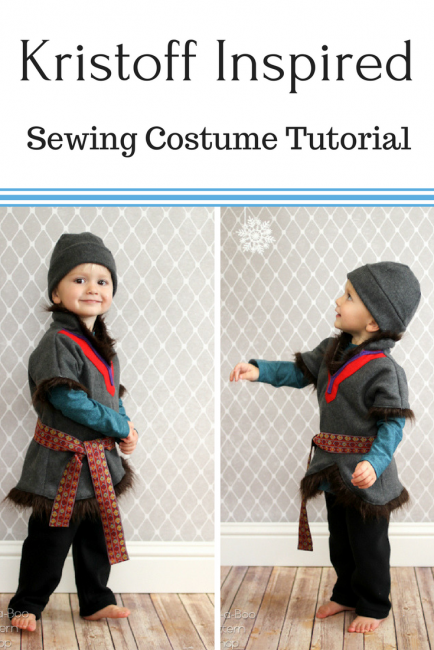 Kristoff Inspired Sewing Costume tutorial by Peekaboo Pages