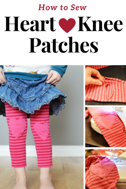 How to sew heart knee patches