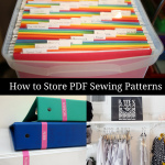 How to Store Printable Sewing Patterns