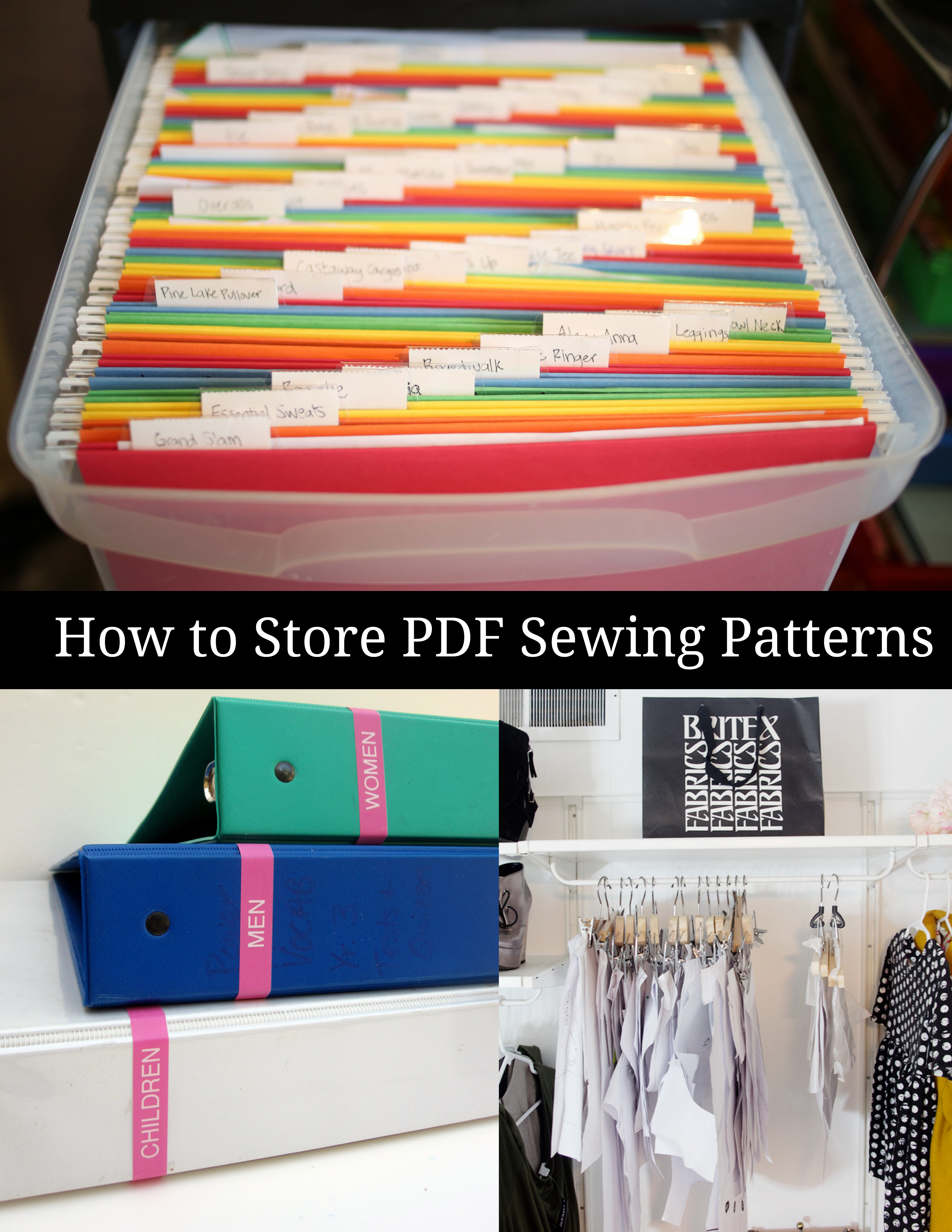 How to Store Printable Sewing Patterns - Peek-a-Boo Pages - Patterns ...
