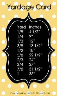 Yardage Card yellow