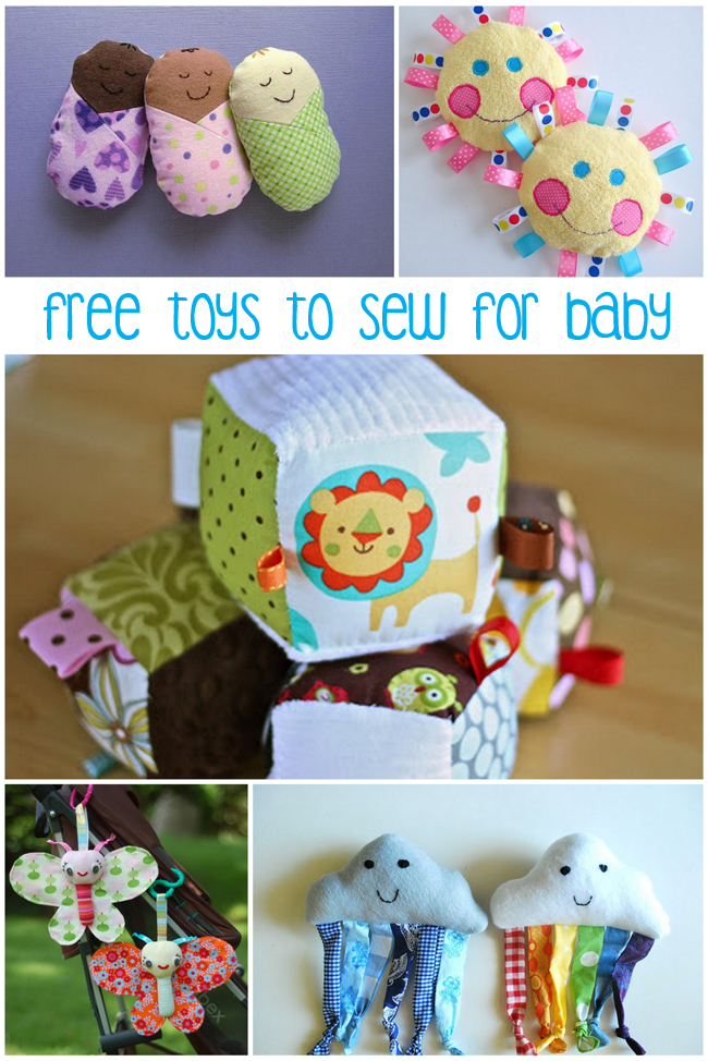 8 Free Baby Toys to Sew - Peek-a-Boo Pages - Patterns, Fabric & More!