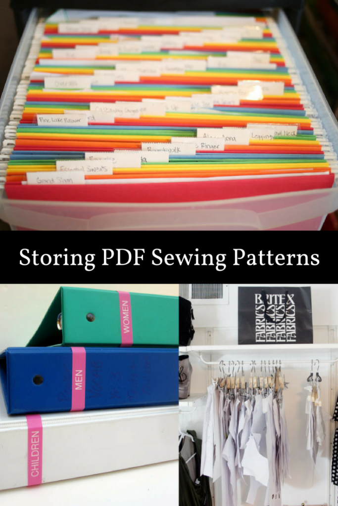 systems for storing sewing patterns