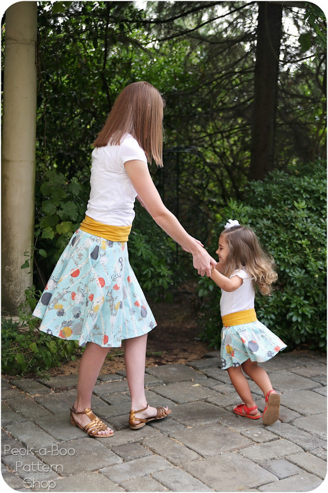 Mommy Amp Me Skater Skirt Patterns Peek A Boo Pages