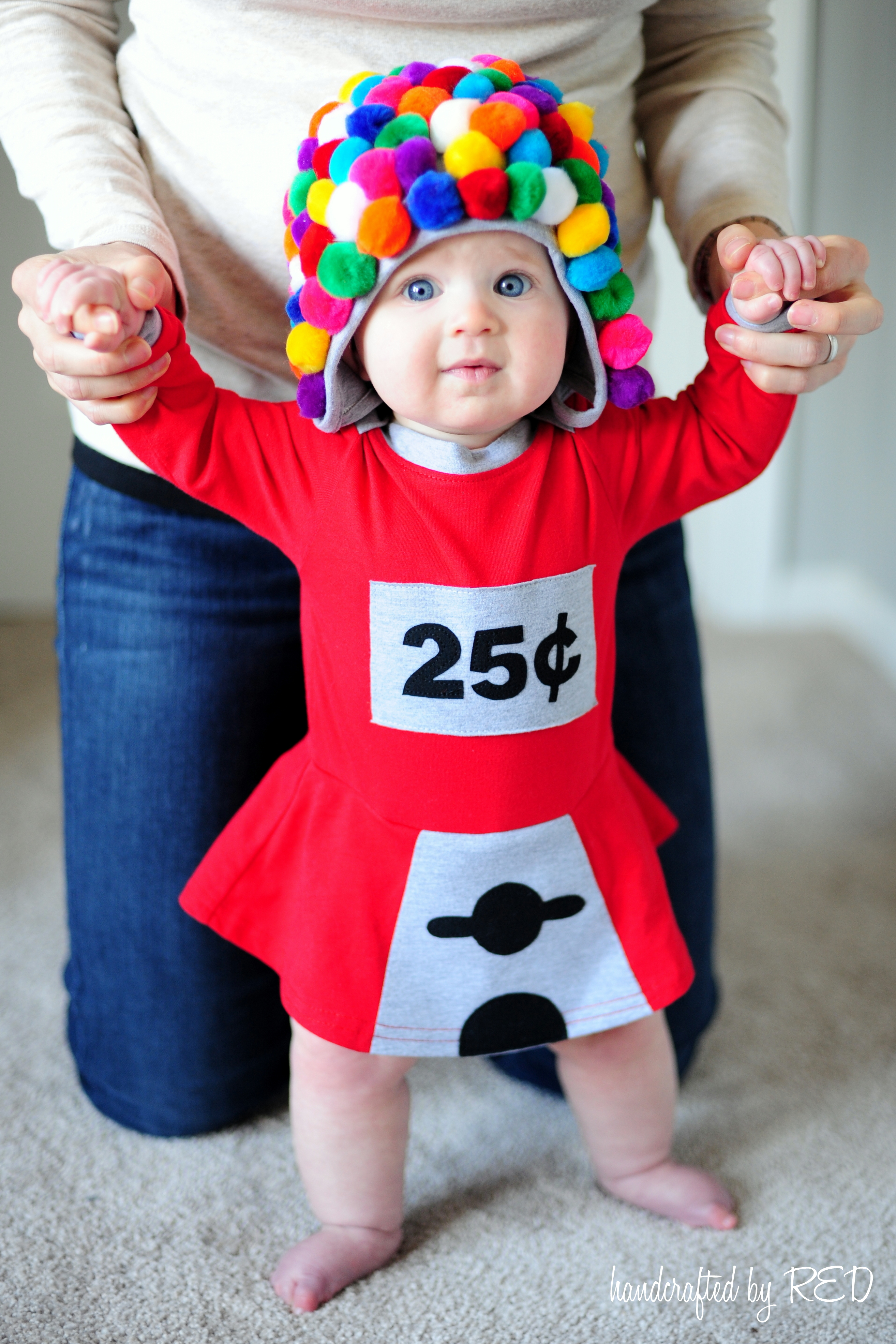 Halloween Costumes Ideas For Babies: DIY Baby Gumball Machine Costume