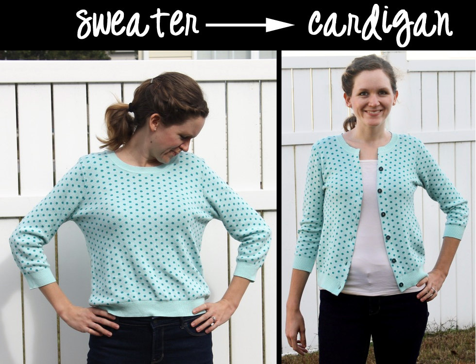 How to Turn an Old Sweater into a Stylish Cardigan - Peek-a-Boo ...