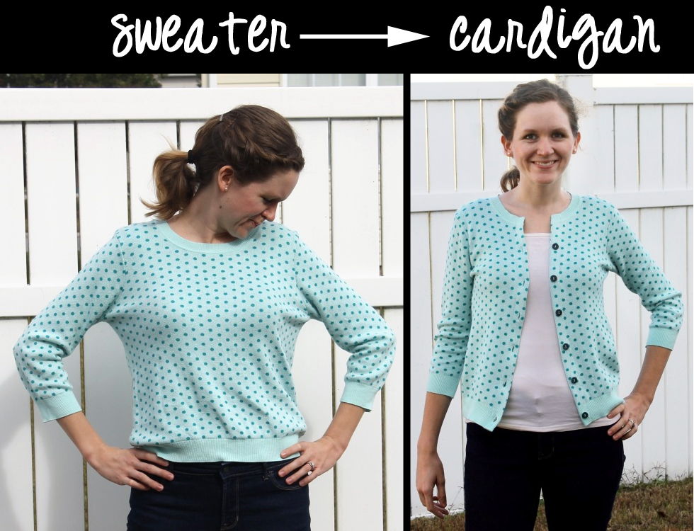 How To Turn An Old Sweater Into A Stylish Cardigan Peek
