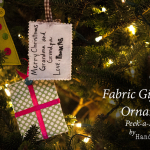 Quick Fabric Gift Tag Ornaments
