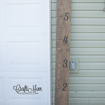 Growth Ruler/Craft Room Decor DIY