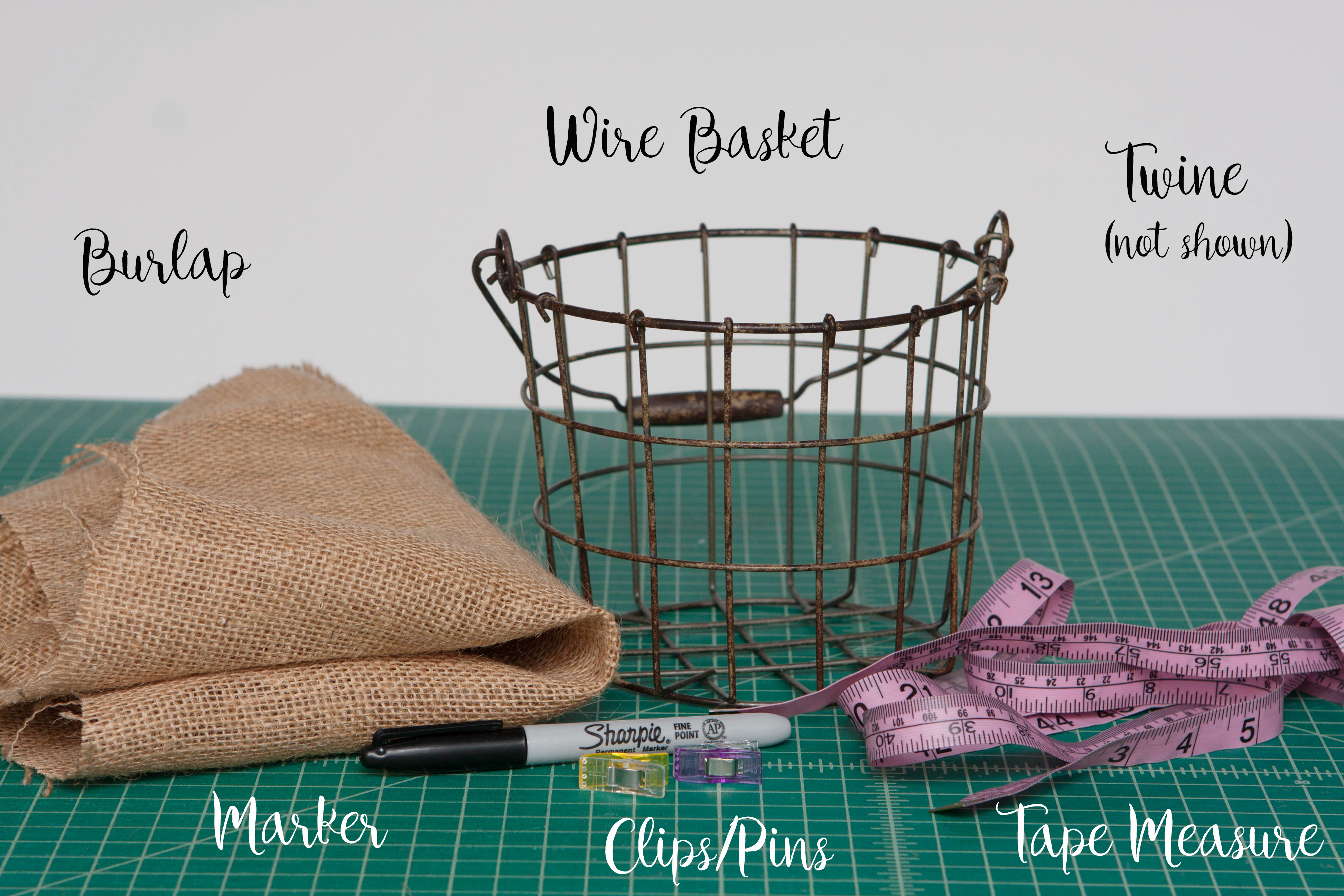 Wire Basket (mine Is From Hobby Lobby) ...
