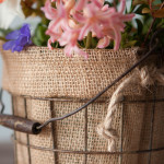 Burlap Basket Liner Tutorial