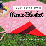 How to sew a picnic blanket
