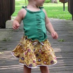 Tiered Toddler Skirt with Built-In Diaper Cover!