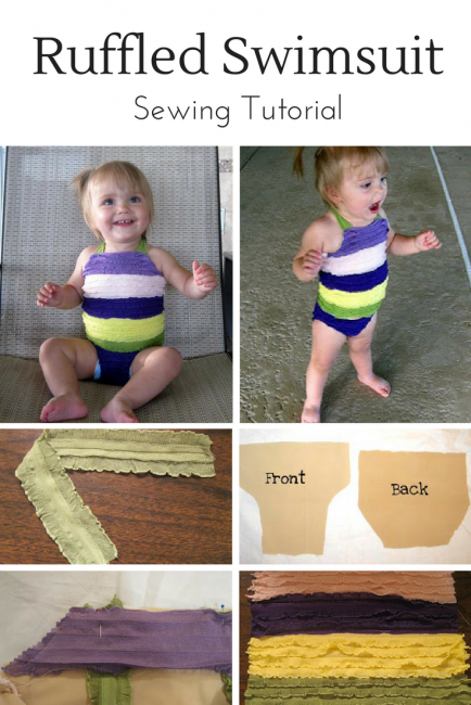 Ruffled Swimsuit Tutorial