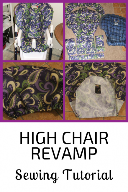 High Chair Revamp Sewing Tutorial