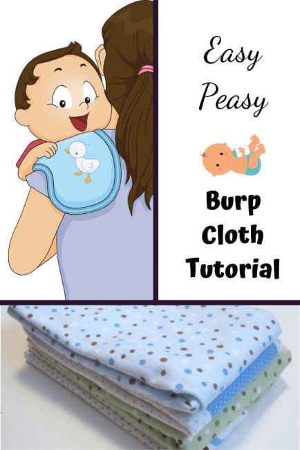 How to make burp cloths