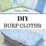 Easy Peasy Baby Burp Cloth Tutorial