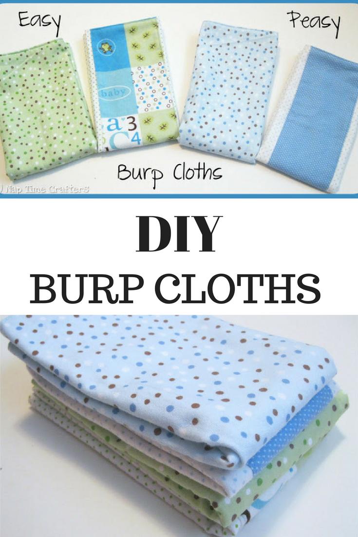 Burp Cloth Tutorial Easy Way To Make Burp Cloths For Baby