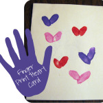 Finger Print Valentine's Day Cards
