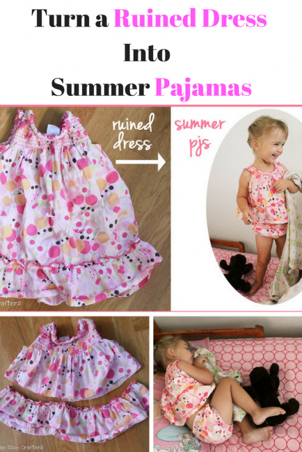 Ruined Dress to PJs Tutorial