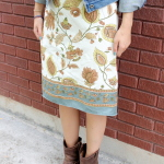 Free Dish Towel Skirt Tutorial