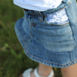 Lace Pocket Denim Skirt Tutorial