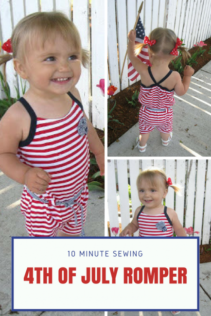 Fourth of July Romper Pattern on a Girl